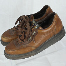 Mephisto France Brown Leather Lace-Up Women Casual Shoe Sz EUR 4 1/2 US 7 B EUC