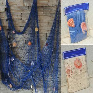 Fish Net Decor Nautical Seaside Beach DIY Home Wall Party Decorative Hanging