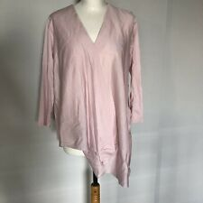New With Tags, COS Pale Pink Assymetrical Long Sleeve Cotton Blouse Size M