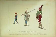 PLANCHE ORIGINALE COSTUME-INSURGES POLONAIS en 1794-1860-(rare)-146