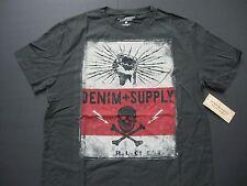 DENIM & SUPPLY RALPH LAUREN Men's Skull and Lightning-Bolt Print T-Shirt S