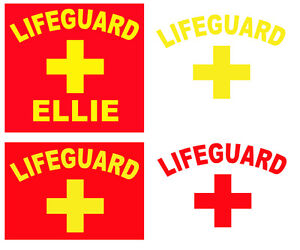 Personalised Lifeguard stag hen fancy dress iron on t-shirt transfers a5 a4