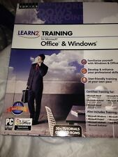 NEW Topics Professional Learn2 TRAINING FOR MICROSOFT Office & Windows CD-ROM
