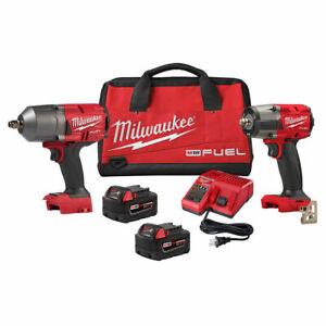 """Milwaukee 2988-22 M18 High Torque 1/2"""" & 3/8"""" Impact Kits Brand New w/Warranty"""