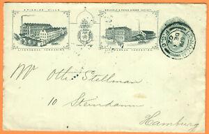 United Kingdom priv postal stationery deco pictures SPINNING MILLS Huggins ES34a