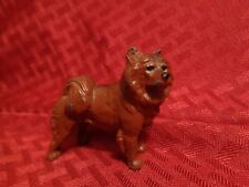 Antique Husky Dog Malamute Solid Lead Paperweight Figurine