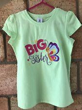 Girls Shirt Big Sister Size 6 Birthday Gift Embroidered