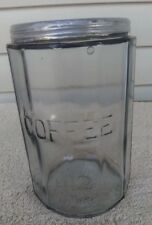 Vintage Coffee Canister Jar from Hoosier Cabinet with Twelve Vertical Panels