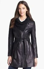 Leather Trench Solid Coats & Jackets for Women