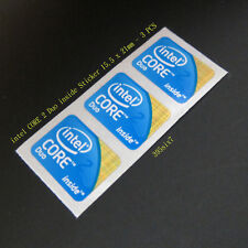 3x intel Core 2 Duo 2009 Version Sticker 15.5mm x 21mm - Laptop size
