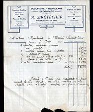 """COUERON (44) MENUISERIE EBENISTERIE """"R. BRETECHER"""" en 1933"""