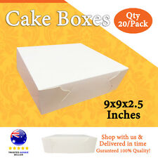 CAKE BOXES 9x9x2.5 Inches Qty 20/Pack Brand New - Wedding Cake Box - Cupcake Box