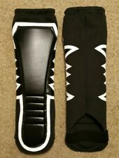 KICKPADS Lowki Style Wrestling Gear Black with White Outline FREE Carrying Pouch