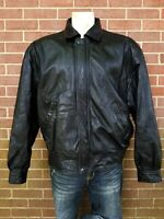 Marc New York By Andrew Marc Mens Black Leather Jacket Size XL