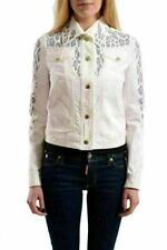 Just Cavalli Women's Beaded Colored Denim Button Down Jacket US S IT 40