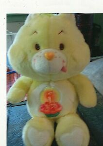 "1983 Vintage Plush Stuffed Care Bear of Birthday bear. 12"" tall."