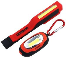 3W COB LED Penlight Bright Torch 1W Carabiner Magnetic Backing Light + Batteries