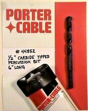 """PORTER-CABLE 1/2"""" Carbide Tipped Percussion Bit #44852"""