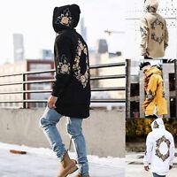 Mens Hoodie Sweatshirt Sweater Hooded Tops Jacket Hip Hop Print Loose Pullover