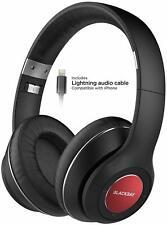 Bluetooth iPhone Headphones w Apple MFi Lightning Cord Wireless Earphones - Red