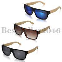 Herren Damen Bambus Holz Klassische Sonnenbrille Brillen Outdoor Sportbrillen