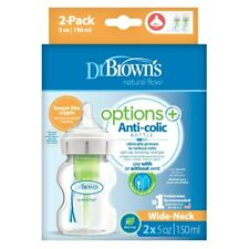 BUSTED PACKAGING BOX Dr Brown's Options PLUS Wide Neck Baby Bottle 150ml 2pk