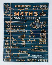 A Teaching Textbook Math Level 5 Answer Key Booklet Homeschool Math 2007