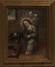 Crown of Thorns 18 Century Oil on Board Continental School