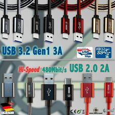 USB 2.0 2A USB 3.2 Gen1 3A Typ C Handy Ladekabel Samsung Galaxy SONY HUAWEI