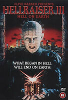 HELLRAISER 3 HELL ON EARTH DVD Terry Farrell Doug Bradley UK Rele New Sealed R2