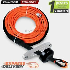 50 X 14 Orange Synthetic Winch Rope 7000lb Hawse Fairlead Stopper Atv Utv