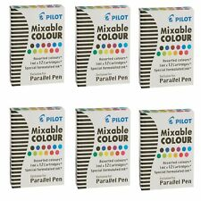 Pilot Parallel Pen Ink Refills for Calligraphy Pens, Assorted Colors, 6 Pack