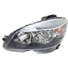 For C350 08-11, Driver Side Headlight, Clear Lens; Black Interior