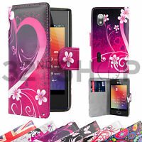 WALLET FLIP PU LEATHER CASE COVER For LG Optimus L5 (E610) FREE SCREEN PROTECTOR
