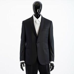 BRIONI 6250$ Madison Essential Smoking Suit In Black Super 160's Virgin Wool