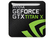 "nVidia GeForce GTX TITAN X 1""x1"" Chrome Domed Case Badge / Sticker Logo"