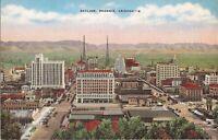 Phoenix, ARIZONA - Skyline - LINEN - old cars, towers