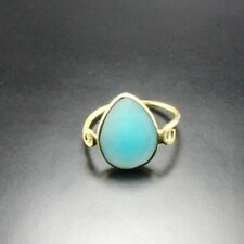 Chalcedony Yellow Gold Plated Fashion Rings
