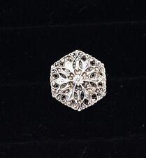 Incredible Silver Filigree Hexagon Buttons!!