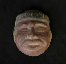 Late Centuries, Antique Islamic Arabic Egyptian Clay Face Portrait / Mask