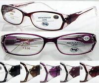 L145 Superb Quality Womens Fashion Reading Glasses/Spring Hinges/12 Pcs Diamante