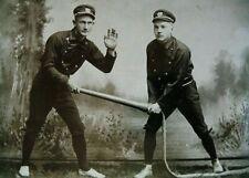 POSTCARD / Two Firemen, 1900
