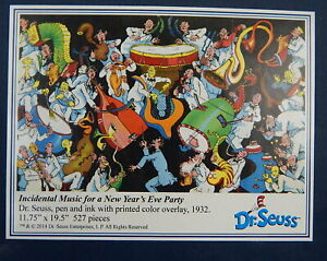 INCIDENTAL MUSIC FOR A NEW YEARS EVE PARTY Liberty Wooden Jigsaw Puzzle Dr Seuss