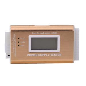 Digital LCD PC 20/24 Pin 4 PSU ATX BTX ITX SATA HDD Power Supply Tester Gol AU