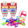 16x LAZY NO TIE ELASTIC SILICONE SHOELACES FOR SNEAKERS RUNNING SHOES BOOTS SMAR