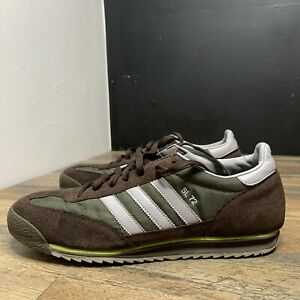 Adidas SL 72 Sneakers Shoes Brown Suede Green Gray Mens Size 12 Preowned