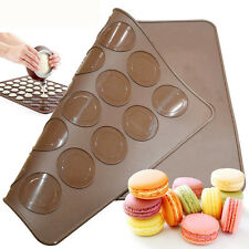 30-cavity Silicone Pastry Cake Macaron Macaroon Oven Baking Mould Sheet Mat New