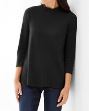 NWT - J. Jill - XL(18/20) - Perfect Soft Knit Black A-line Pullover Top