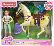 Fisher-Price Loving Family Aspen Gold Western Horse, New in Box
