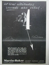9/1953 PUB MARTIN BAKER MK.2 EJECTION SEAT SIEGE EJECTABLE ESCAPE SYSTEM AD
